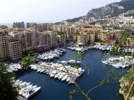 One of the ports in Monaco. View from the Royal Palace