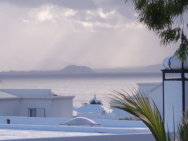This is view of Fuerteventura from Lanzarote