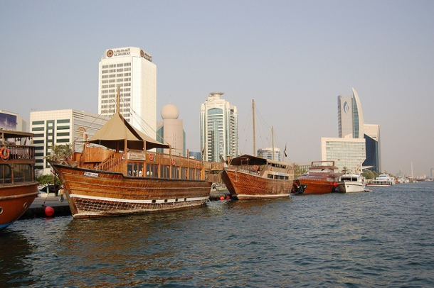 Boats at Dubai Creek