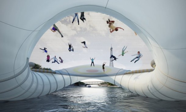 Concept Trampoline Bridge, Paris