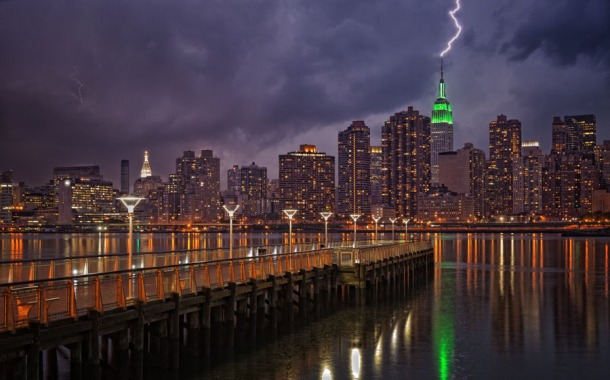 Lightning in New York City
