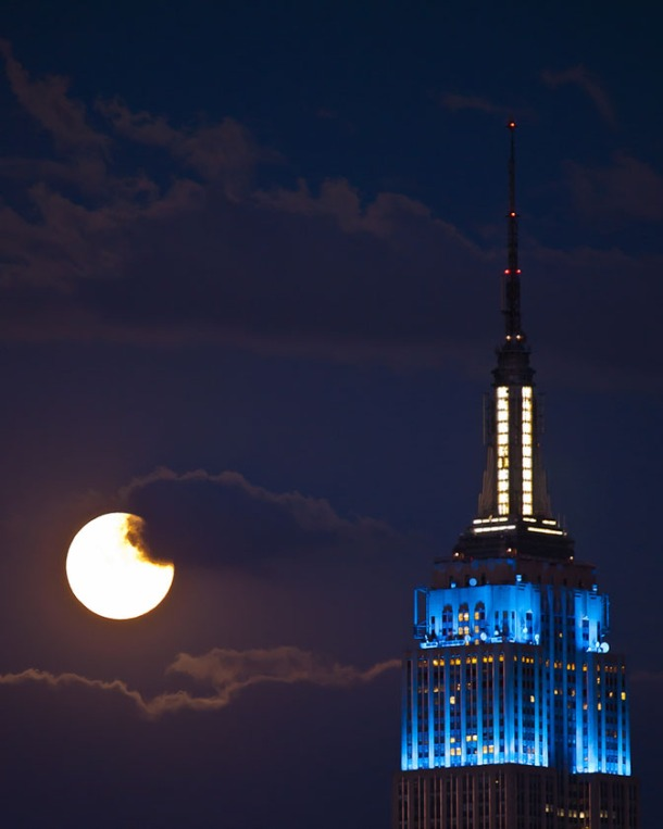 The Empire state building and the Moon