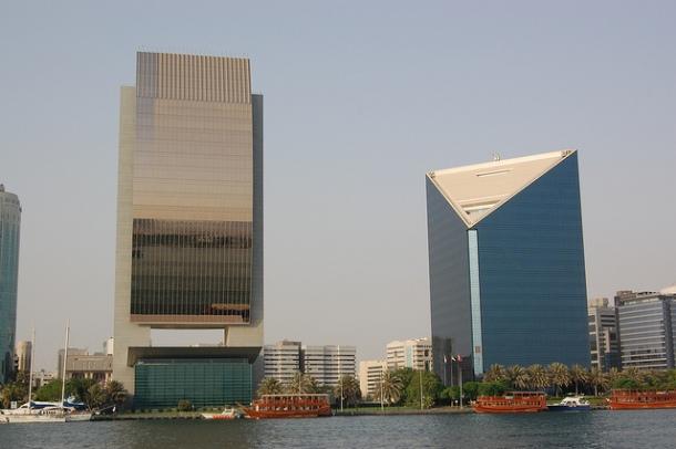 Skyscraper view from a boat trip