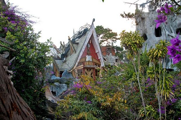 Dalat Crazy House from afar