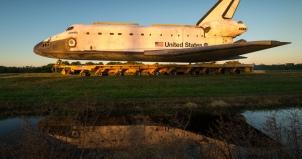 Carrying Space Shuttle Atlantis