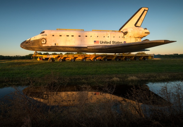 Carrying Space Shuttle Atlantis
