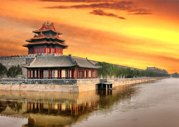 Sunset at Forbidden City