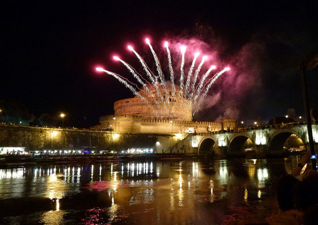 Fireworks at Sant'Angelo Castle