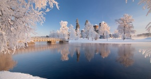 Olavinlinna Castle in Winter