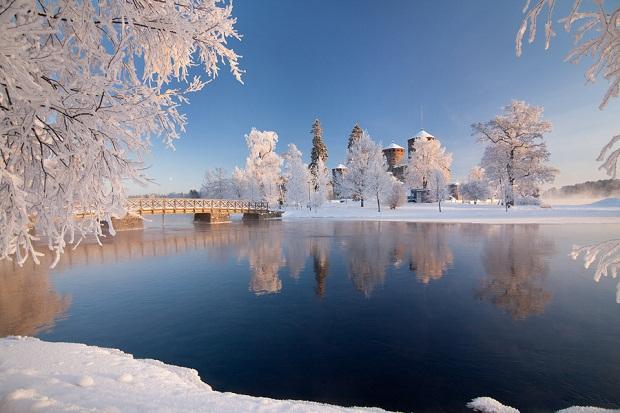 Olavinlinna Castle in Winter
