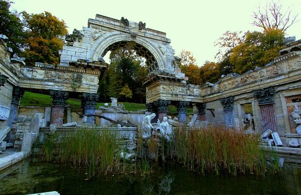 Roman ruins in the Gardens