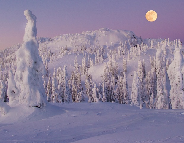 Thick snow Full moon