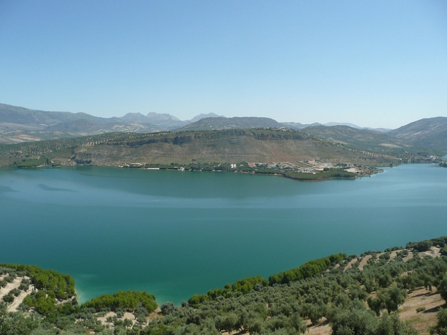 Iznajar Lake And Beach,Andalucia