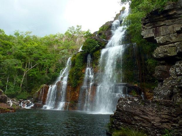 Pantanal waterfall