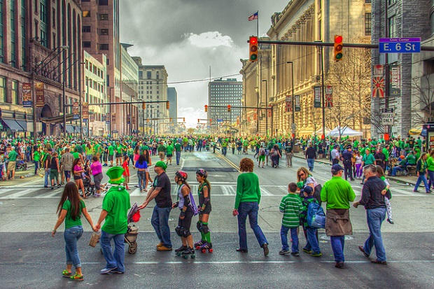 St. Patrick's Day Green Parade everywhere