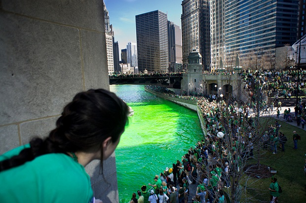 St. Patrick's Day Green Parade in Chicago