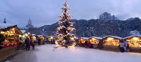 Christmas market in Val Gardena