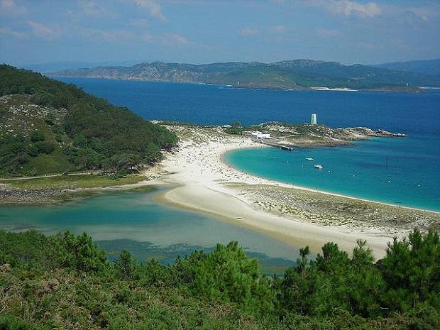 Cies Islands sand bar