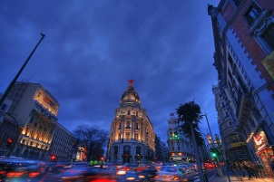 Madrid nightcity