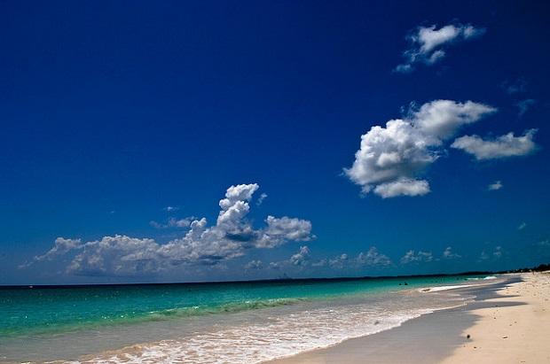 Pink Sand Beach Clear Sky Clear Sea