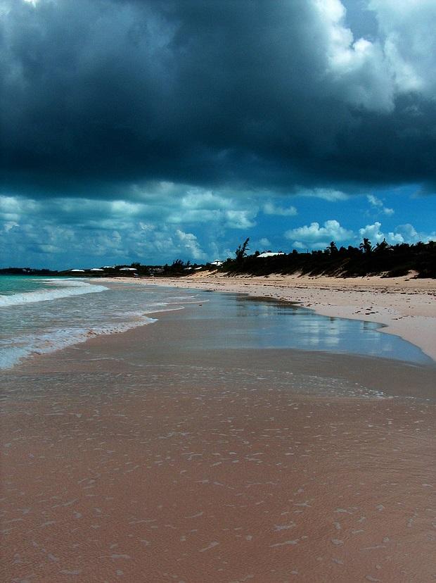 Pink Sand Beach Soiled by Rain