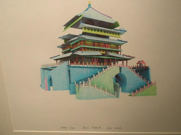Shanghai Museum Bell Tower painting