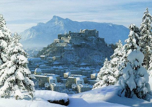 Austrian Snowy Landscape