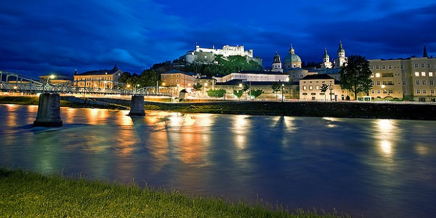 Hohensalzburg Castle at Night