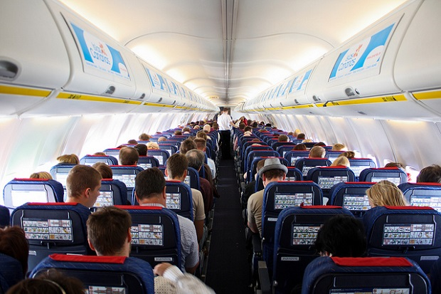 Ryanair Plane interior
