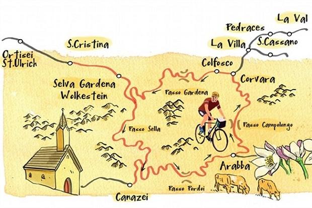 Val Gardena Map