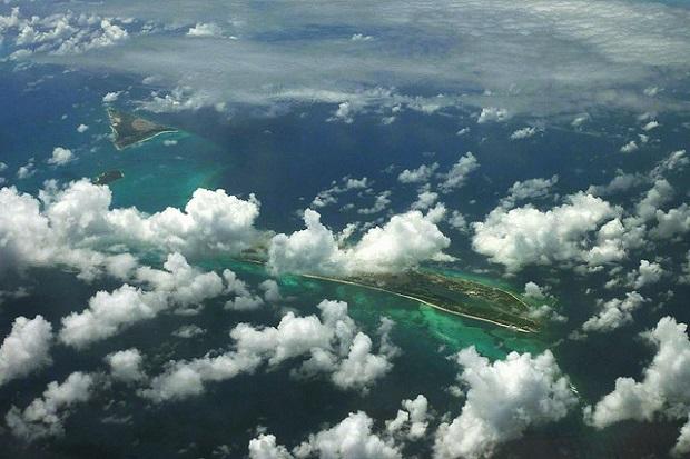 Aerial shot of Turks Islands