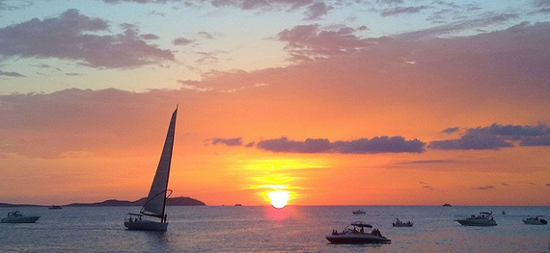 Ibiza deep sunset