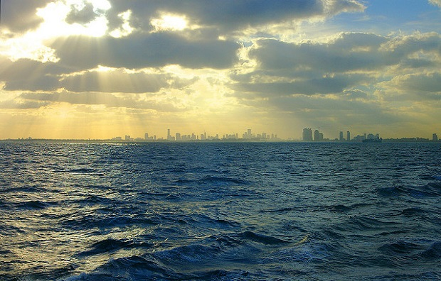 Miami Cloudy Skyline