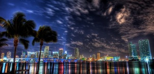 Miami Night Skyline