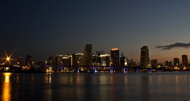 Miami skyline as seen from Watson Island.