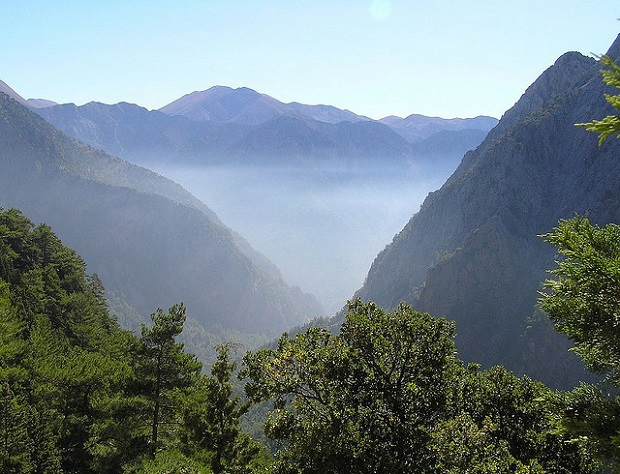 Samaria Gorge from above