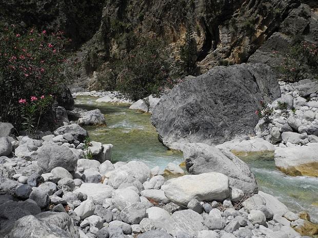 Samaria Gorge river