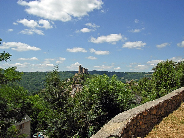 Najac Castle from afar
