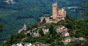 Najac Castle on the hill of Aveyron