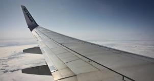 Ryanair Flight wing