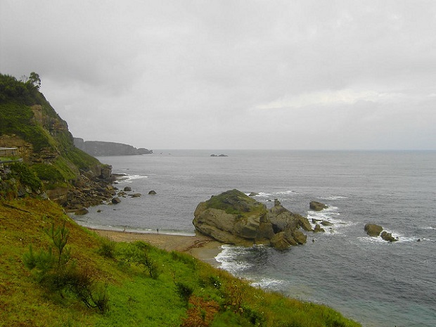 The Coast of Asturias while climbing