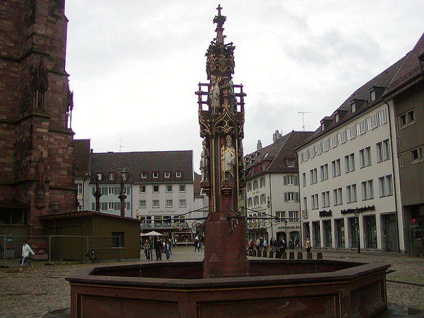 Freiburg Cathedral Fountain