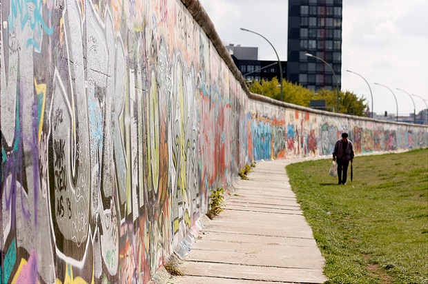 Walking down Berlin Wall