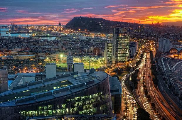 Barcelona Nighttime