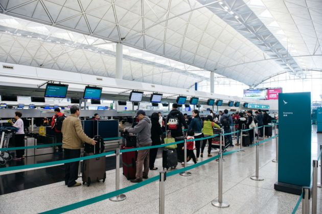 Views Of Cathay Pacific Check-In Counters Ahead of Earnings